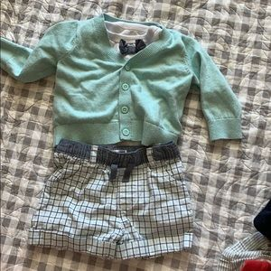 Dressy shorts set with bow tie